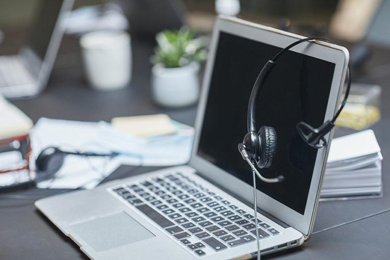 Casque d'ordinateur pour transcription audio